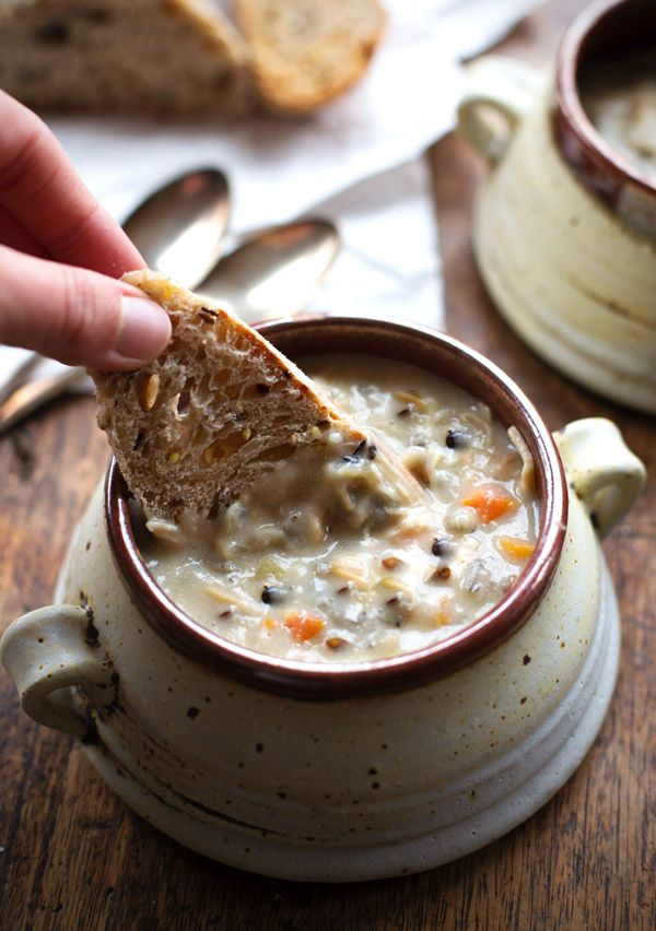 This Crockpot Chicken Wild Rice Soup is so darn simple to make and goes perfectly with a piece of crusty bread on a cold winter night.