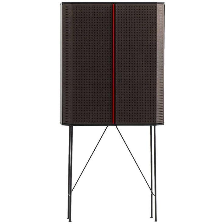 """""""Perf"""" Bar Cabinet in Steel & Oak Veneered Plywood by Moroso for Diesel"""