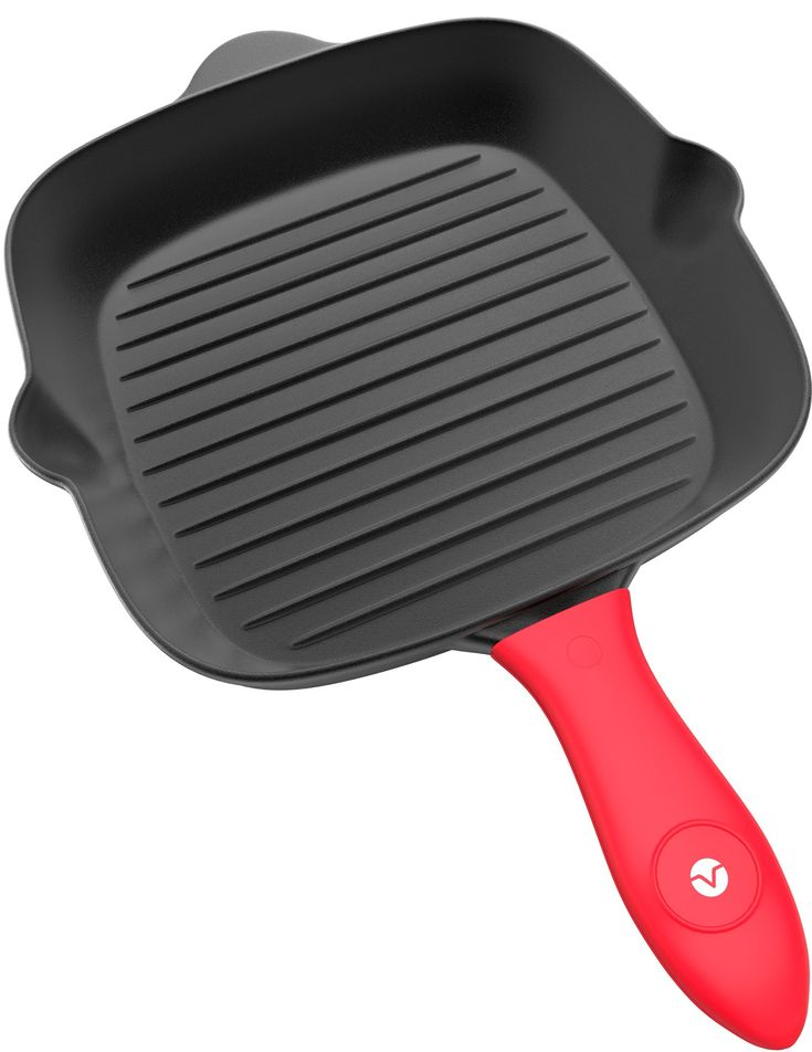 Vremi Cast Iron Grill Pan - Pre Seasoned Cast Iron Skillet with Handle Cover - Stovetop Grill Pan Nonstick Indoor Grilling Pan for Electric or Gas Stove Top - Heavy Duty Cast Iron Cookware Grill
