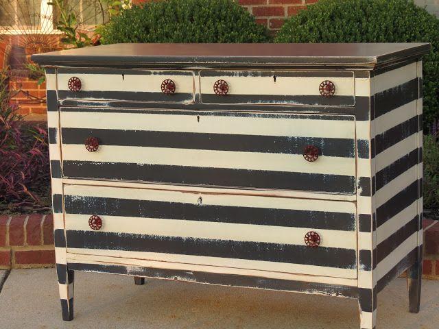 Striped Dresser — Chrissie's Collection