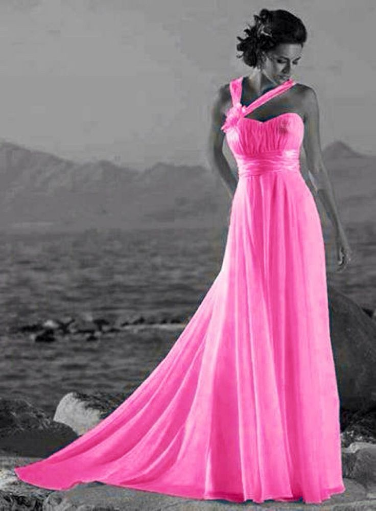 Translucent pink dress color splash ~ by Ladee Pink