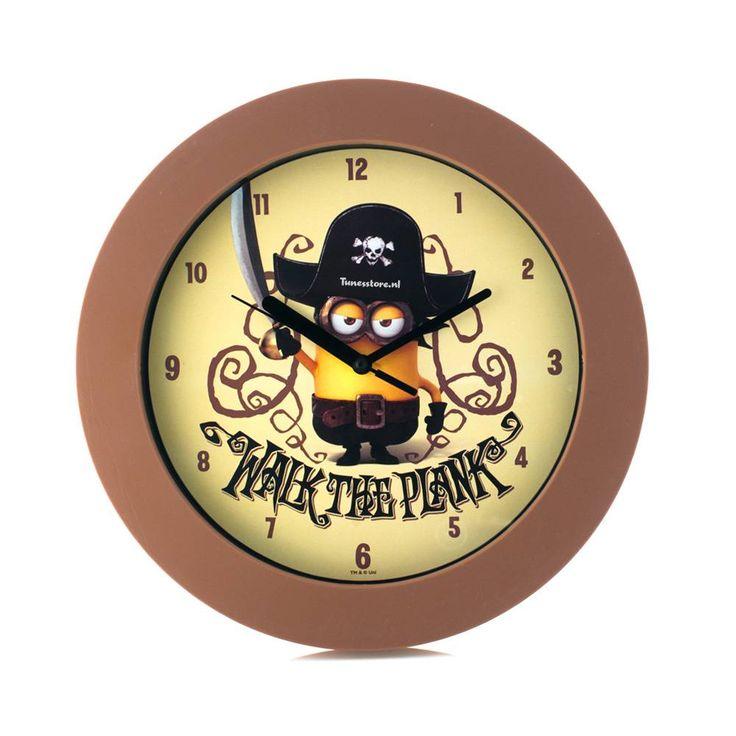 Minions Movie wandklok - Piraat #minion #minions #kevin #stuart #bob #speelgoed #minionsartikelen #minionsklok #minionkinderklok