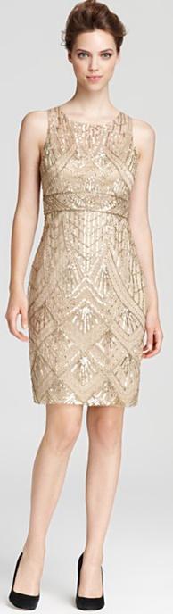 Sue Wong Dress - Beading pattern is perfect.
