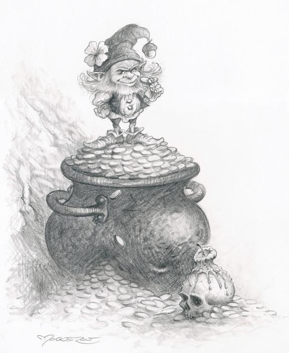 Pascal Moguérou - L'heure des fées, Illustration originale -