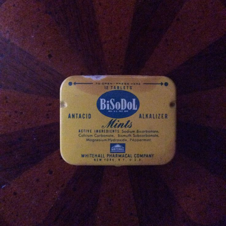 Vintage Bisodol Antacid Mints Tin, Antique Farmhouse Medicine Cabinet Find by MargiesCoolStuff on Etsy