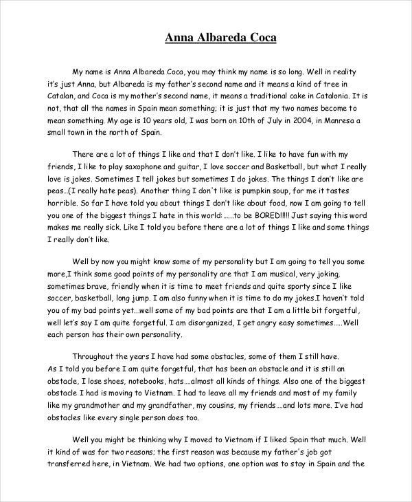 Funny Autobiography Example  Writing  Autobiography writing Autobiographies for kids Resume