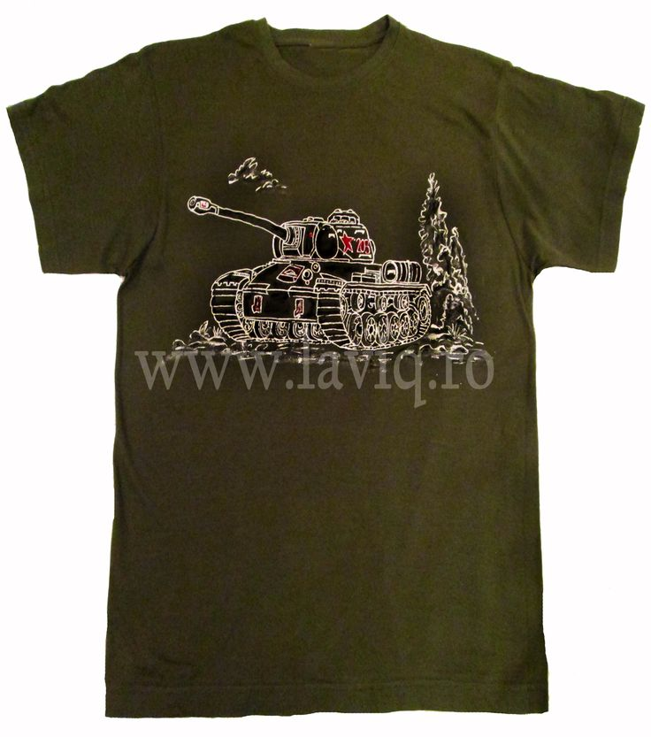 Tricou pictat WORLD OF TANKS   www.laviq.ro www.facebook.com/pages/LaviQ/206808016028814