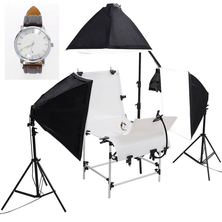 High-quality 4-light holders with 16 x 45watt continuous lighting kit with shooting table       Non-reflective translucent plexiglass shooting table       Show your products in its 'best light'!