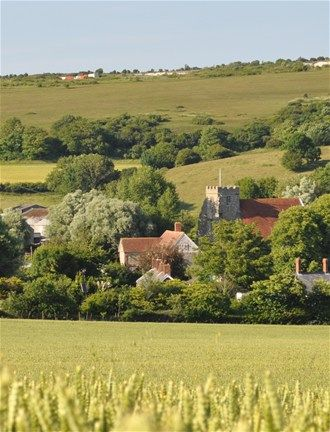 Arreton old villages on the Isle of Wight, UK