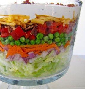 Recipe For  Layered Picnic Salad