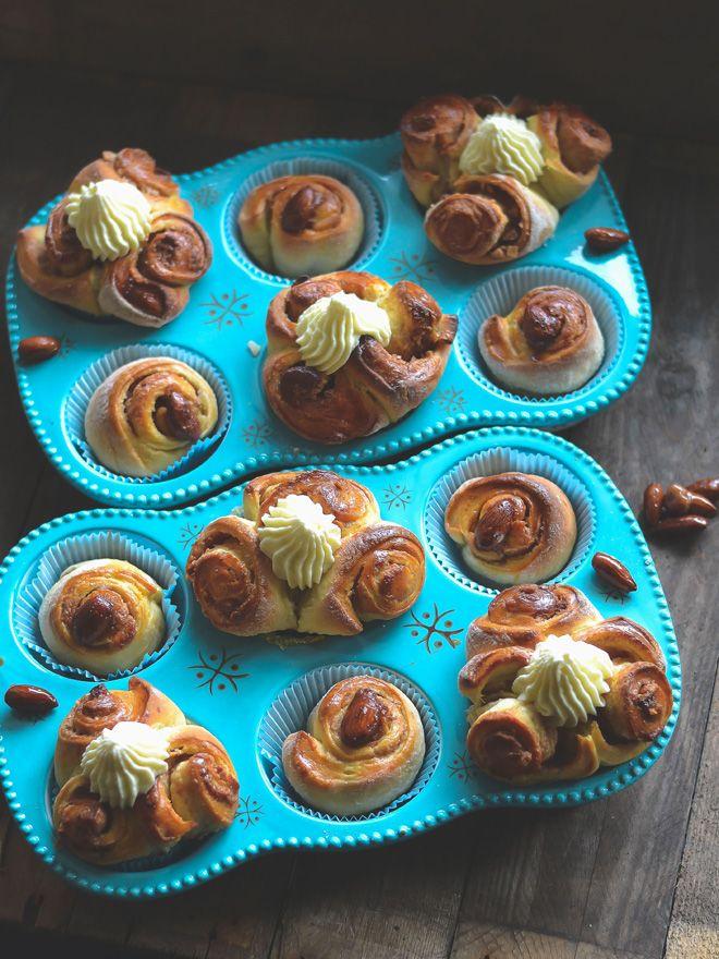 S-Küche: Weihnachtliche Zimtschnecken mit Gebrannten Mandeln und Marzipan - Kanelbullar