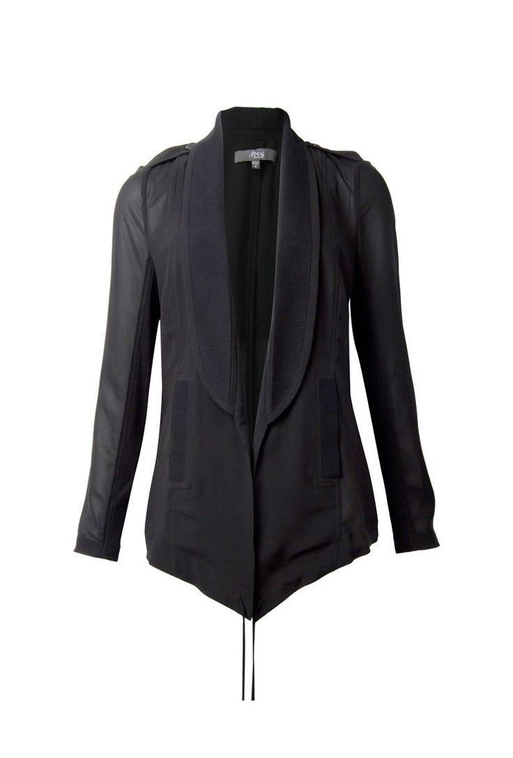 Max Drawstring Drape Jacket