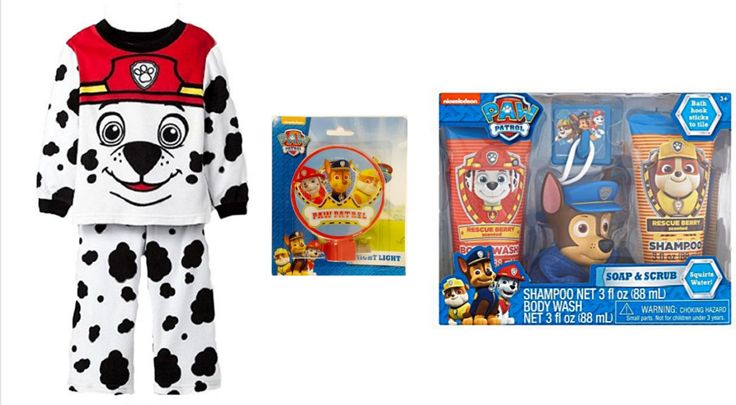 Paw Patrol Toddler Boys Marshall Fleece Pajamas PLUS Body Wash Shampoo and Night Light    #PawPatrol