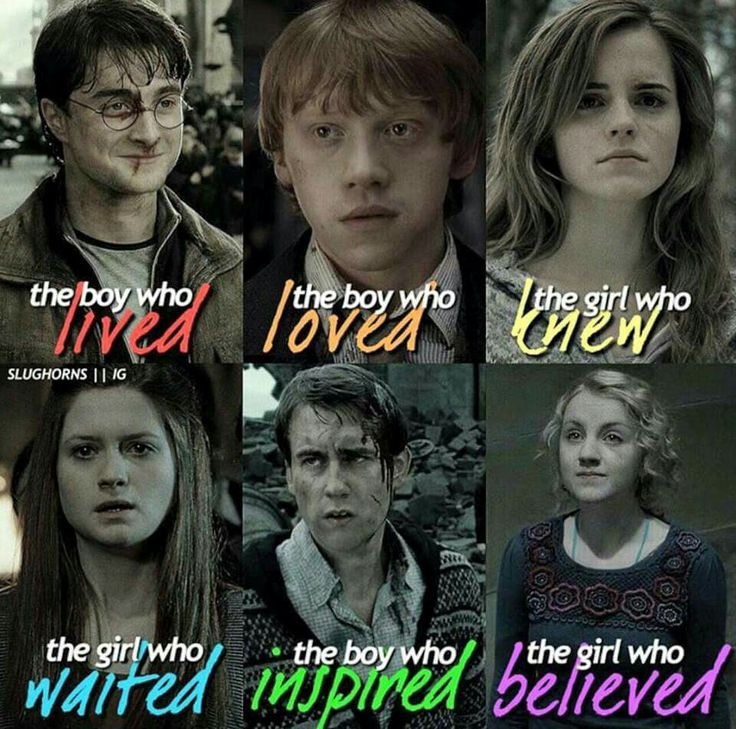 The boys and girls of Harry Potter