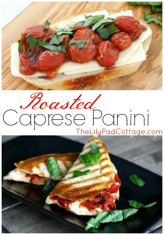 Roasted Caprese Paninis