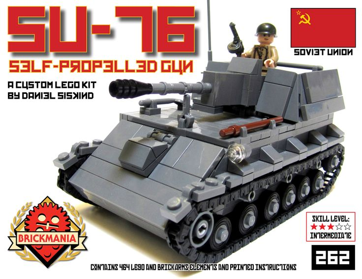 Brickmania - SU-76 Self Propelled Gun, $165.00 (http://www.brickmania.com/su-76-self-propelled-gun/)