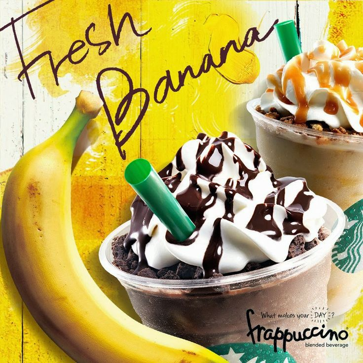 Food Science Japan: Starbucks Fresh Banana and Chocolate Cream Frappuccino