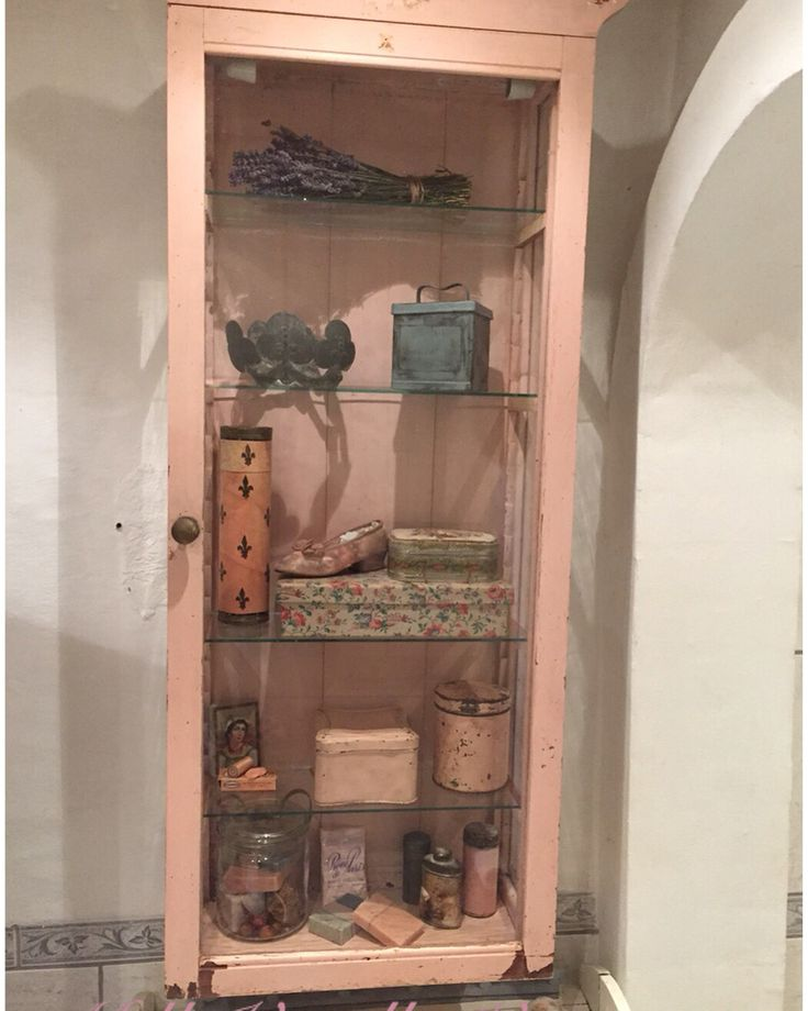 New cabinet in the bathroom