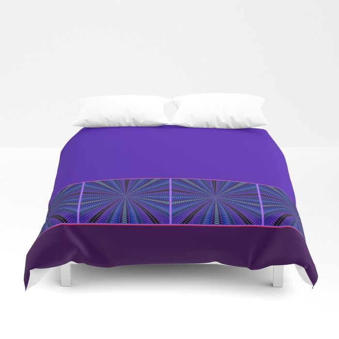Mesmerized by Blues and Purples Duvet Cover