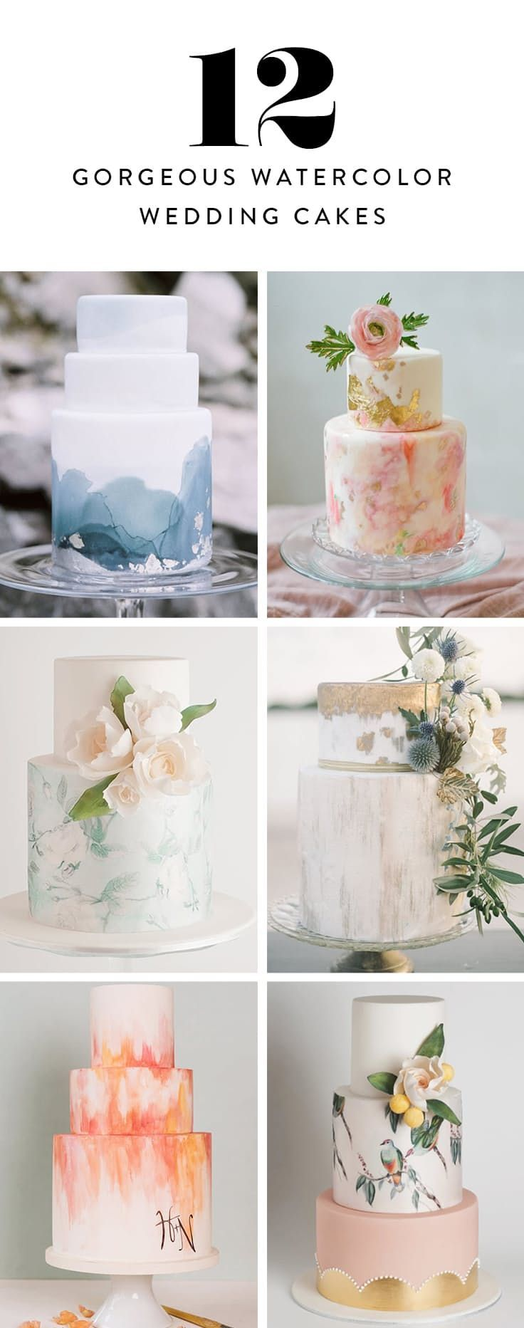 Watercolor Cakes Are the Next Big Wedding Trend via @PureWow