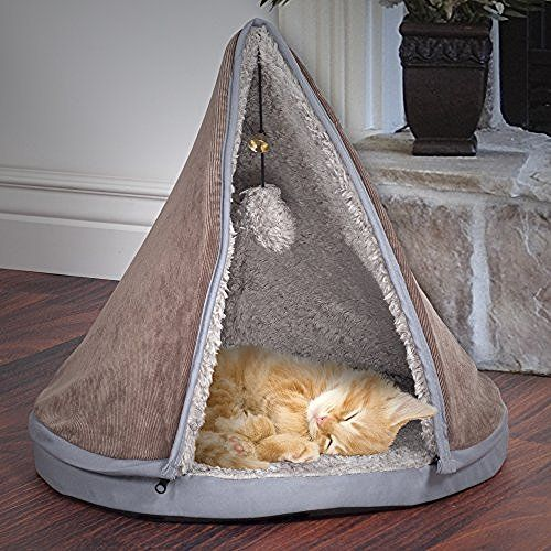 PETMAKER Sleep and Play Cat Bed with Removable Teepee Top…