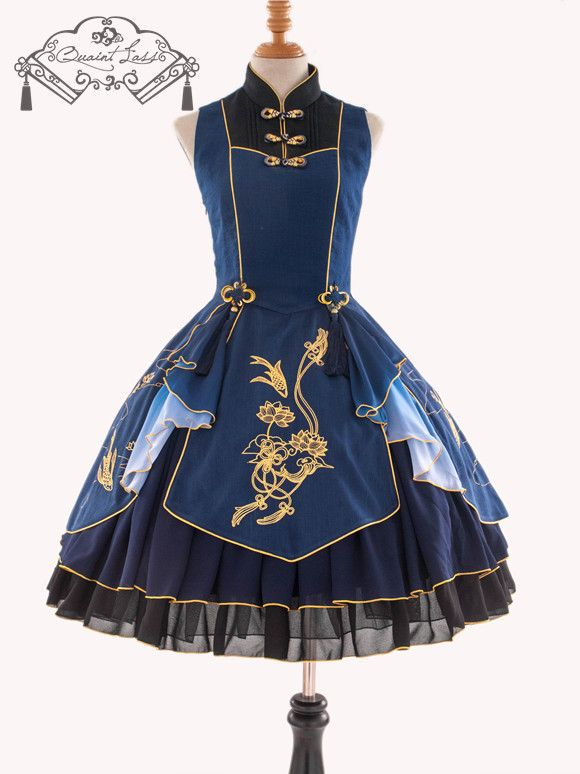 QuaintLass -Lotus with Fragrance- Qi Lolita Jumper Dress