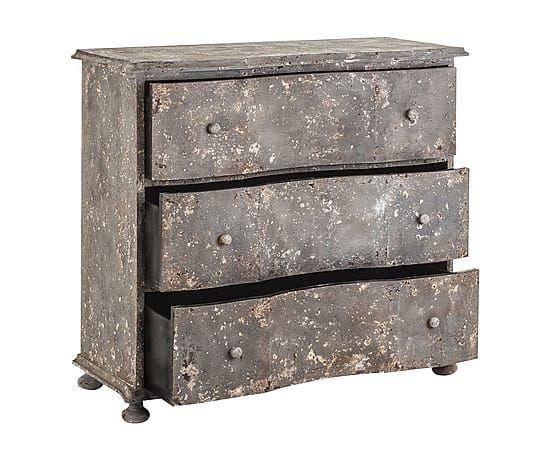 C moda en madera dm con 3 cajones gris largo 103 cm for Comoda 50 cm ancho