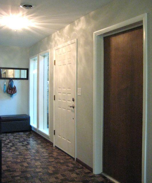 White trim with wood door trim molding pinterest for Wood doors painted trim