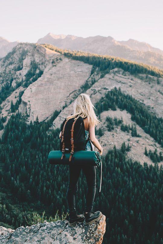 Big Cottonwood Canyon, Utah. Ack, I would lose my balance... brave.