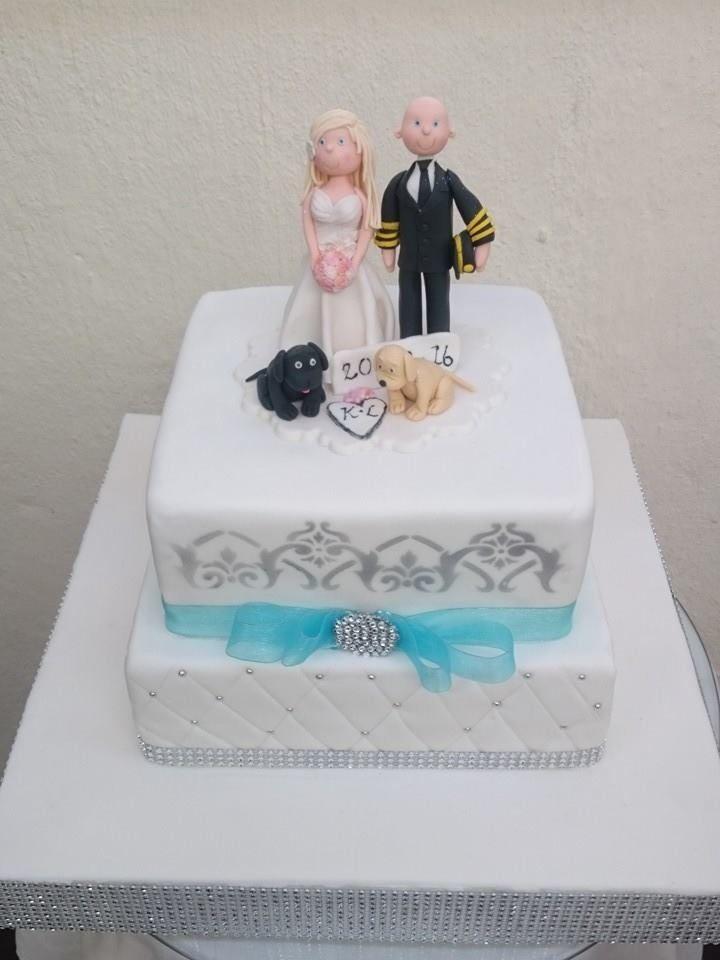 Pilot cake topper and bling cake