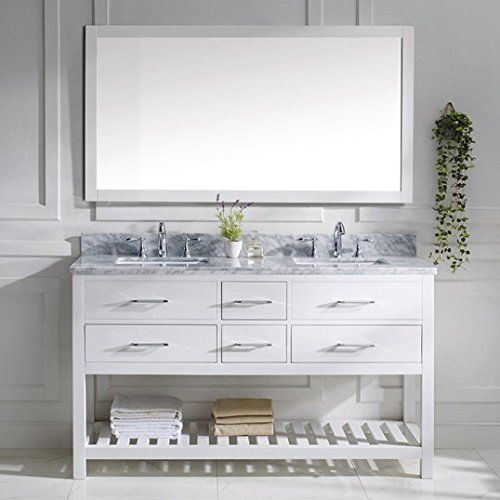 Virtu USA MD-2260-WMSQ-WH-010 Transitional 60-Inch Double Sink Bathroom Vanity Set with Full Length Mirror White Review https://modernbathroomvanitiesreviews.info/virtu-usa-md-2260-wmsq-wh-010-transitional-60-inch-double-sink-bathroom-vanity-set-with-full-length-mirror-white-review/