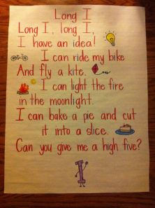 long I vowel poster