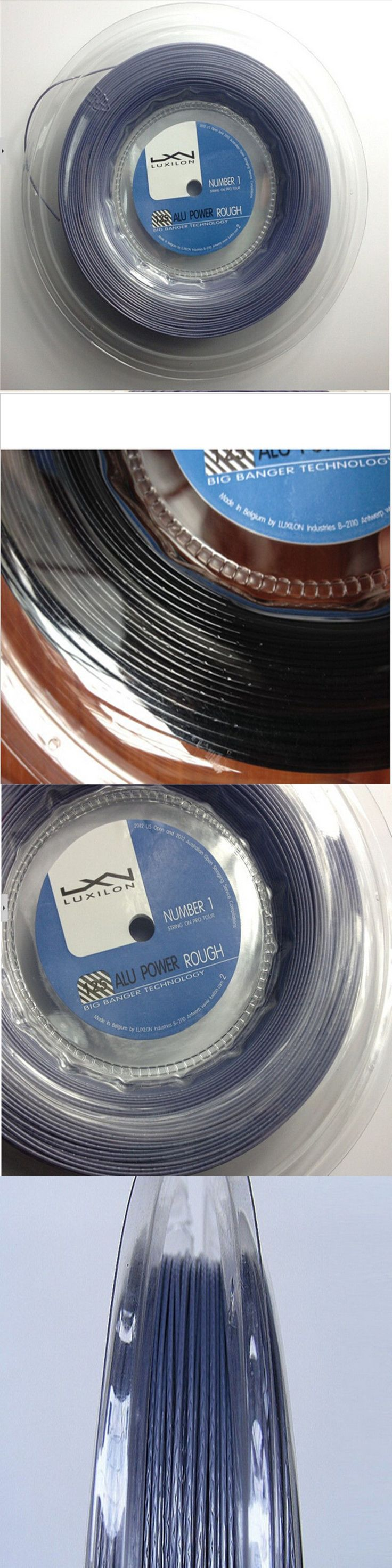 Strings 13343: 200M Reel Without Printing Rough Power Luxilon Tennis String ,660Ft:Silver -> BUY IT NOW ONLY: $45 on eBay!