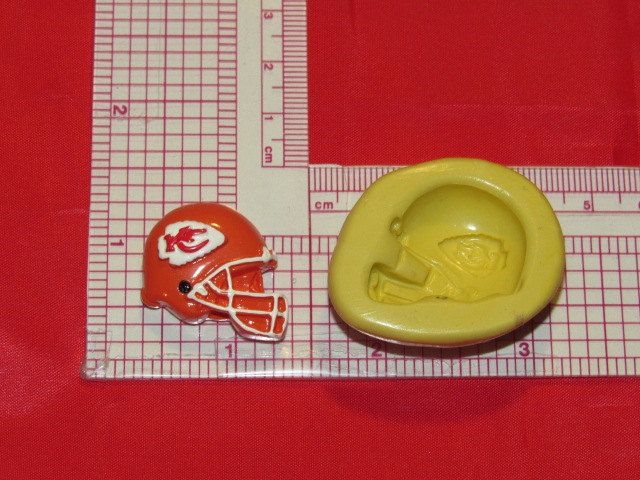 NFL Football Kansas City Chiefs Helmet Silicone Push Mold 949 Chocolate Candy Wax Soap by LobsterTailMolds on Etsy