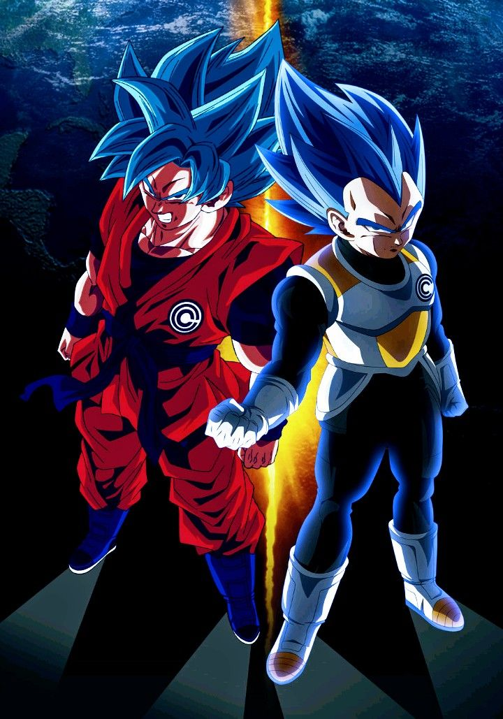 Goku Vegeta Super Saiyan Blue Dragon Ball Super Anime Dragon Ball Super Dragon Ball Super Goku Dragon Ball Goku