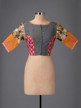 Inspiration to create your own choli- stripes/ prints/ florals in handwovens.