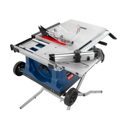 Ryobi 10 in. Table Saw with Wheeled Stand-RTS31 at The Home Depot