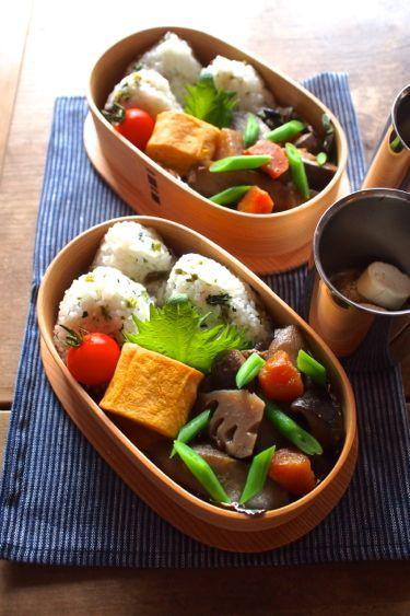 Japanese Bento with Rice Balls おむすび弁当