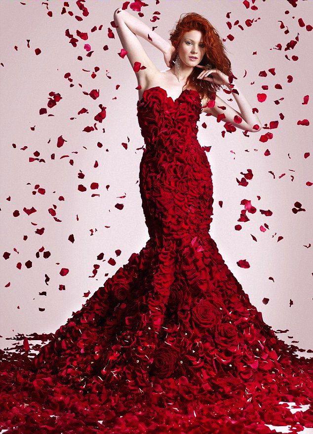 Jolie robe rouge en anglais
