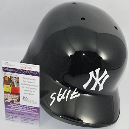 Starlin Castro Hand Signed Autographed New York Yankees Full Size Authentic Batting Helmet - JSA - Autographed MLB Helmets ** Click image for more details.