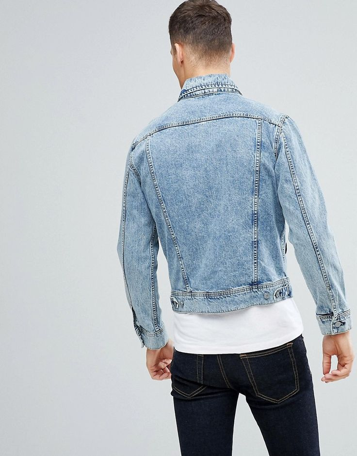 Stradivarius Denim Jacket In Light Blue Wash - Blue