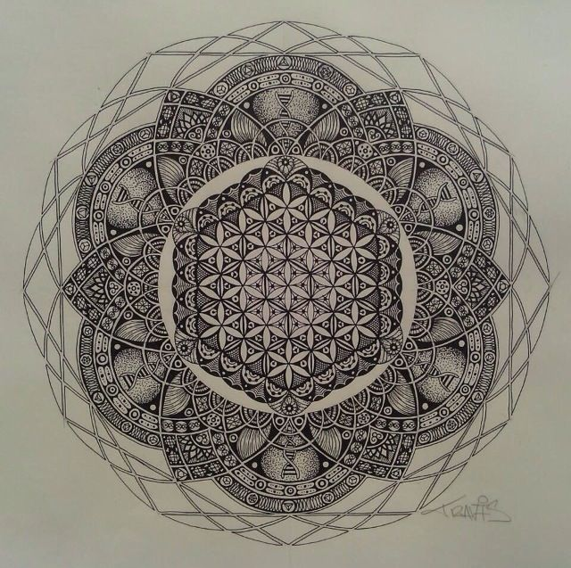 Sacred mandala. future tattoo.