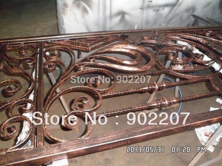 Кованого железа ворота, железные ворота стальные кованые железные ворота