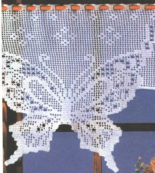 """Gardine Schmetterling häkeln -  """"Butterfly"""" crochet curtain"""