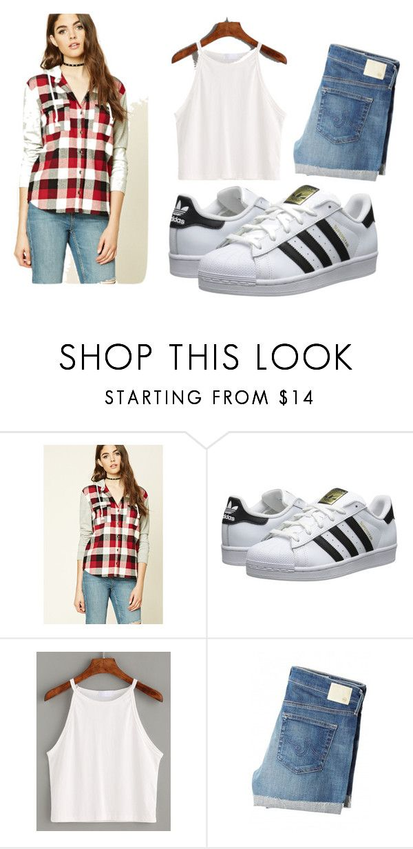 """""""Untitled #30"""" by aliauxifree-131 on Polyvore featuring Forever 21, adidas Originals and AG Adriano Goldschmied"""