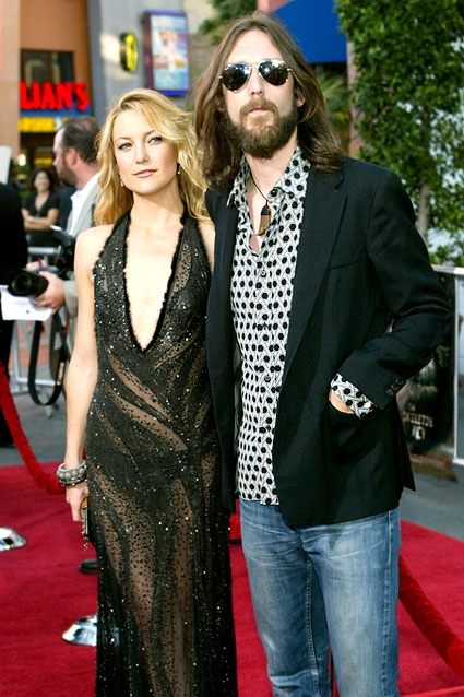 Kate Hudson & Chris Robinson    Kate Hudson married The Black Crowes frontman Chris Robinson in 2000. Loved this couple