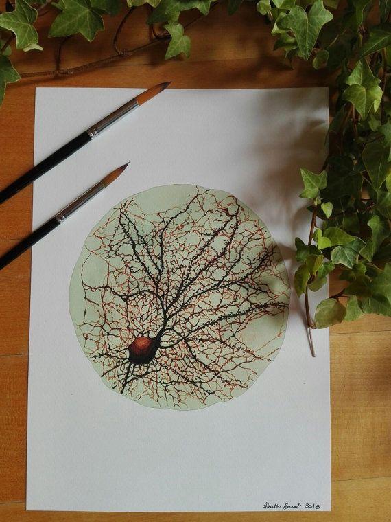 Neurone neurone arte opera d'arte del di MirrorNeuronArtwork