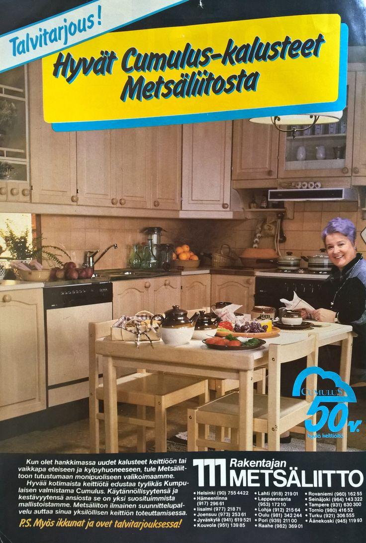 Keittiö mainos vuodelta 1985.