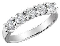 Diamond Anniversary and Wedding Band 1 Carat (ctw) in 14K White Gold