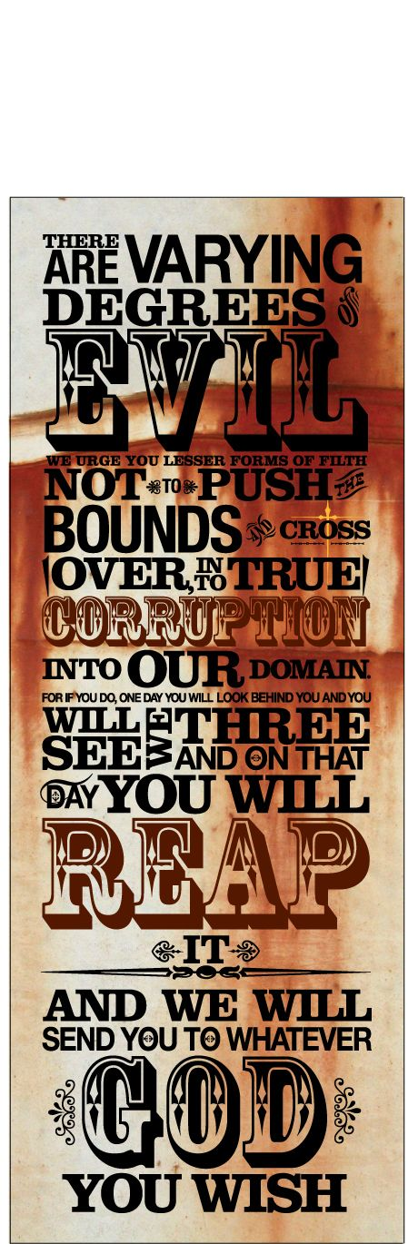 Boondock Saints Quote-Woodcut by liberate-tutemae